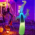GOOSH 6 FT Height Halloween Inflatable Outdoor Colorful Dimming Ghost, Blow Up Yard Decoration Clearance with LED Lights Buil