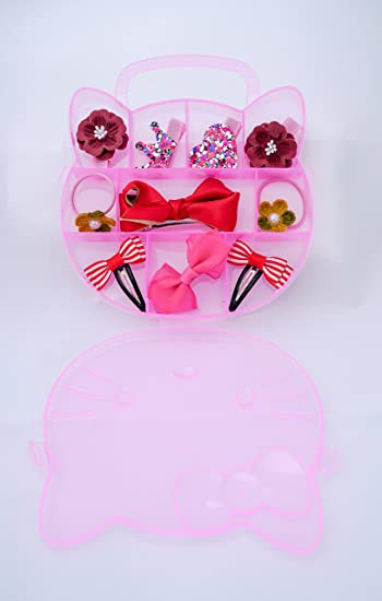 e51016166 Amazon.com : Hello Kitty gift box:Baby Little Teen Girls Hair Clips Hair  Bows Barrettes Hairpins Hair Accessories kit Set(10PCS) (red) : Beauty