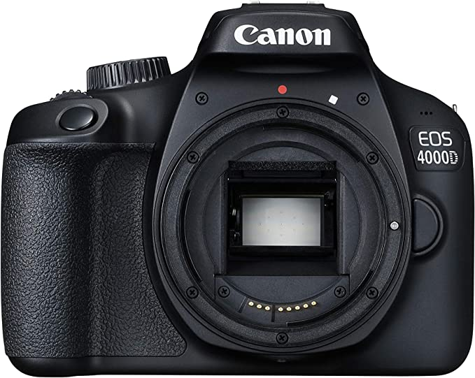 Canon EOS 4000D Cuerpo de la cámara SLR 18 MP 5184 x 3456 Pixeles Negro - Cámara Digital (18 MP, 5184 x 3456 Pixeles, Full HD, 436 g, Negro)