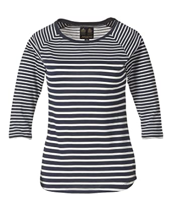 a9f95838075 Musto Women s Eleanor Striped 3 4 Sleeve T-Shirt  Amazon.co.uk  Clothing