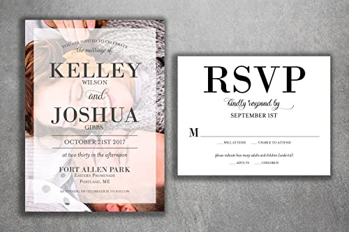 Amazon.com: Affordable Photo Wedding Invitations Set Printed