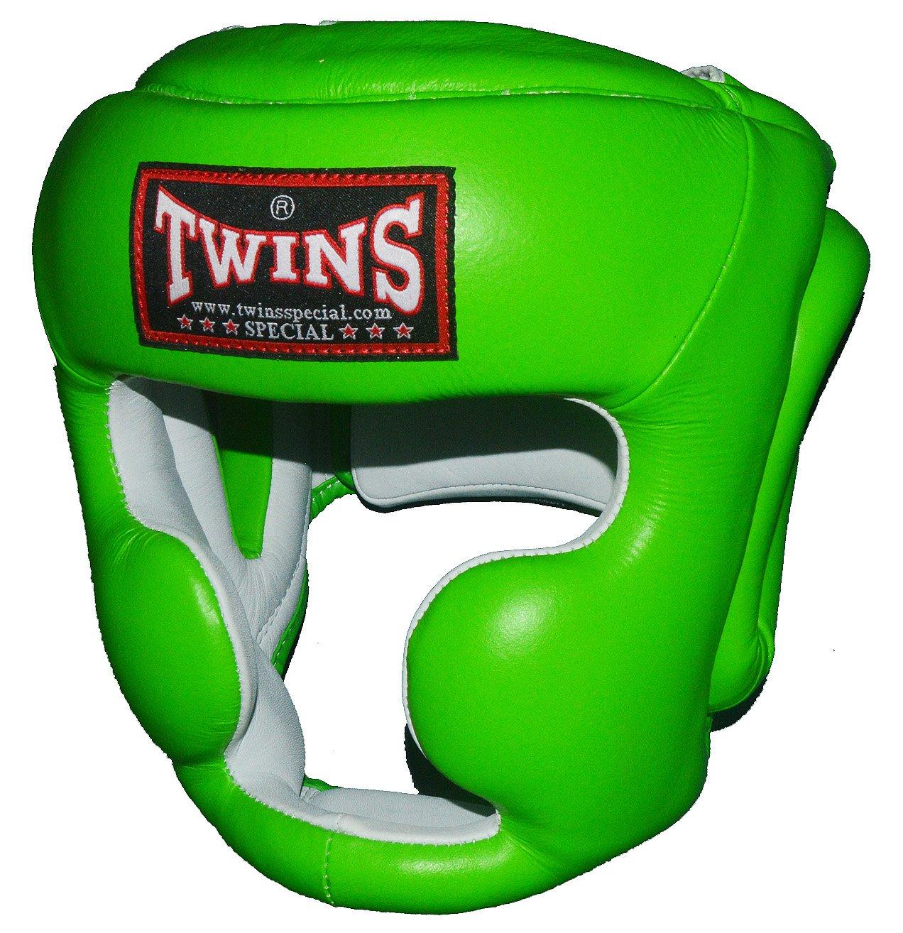 TWINS本革製ヘッドガード ライムグリーン PTTW3190 キッズサイズあり/トップファイター トレーニング映像付 B075D8PR2R  Small