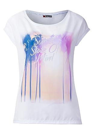 d21c4467d0f953 Street One - Damen Shirt Sherin mit Photo Print  Amazon.de  Bekleidung