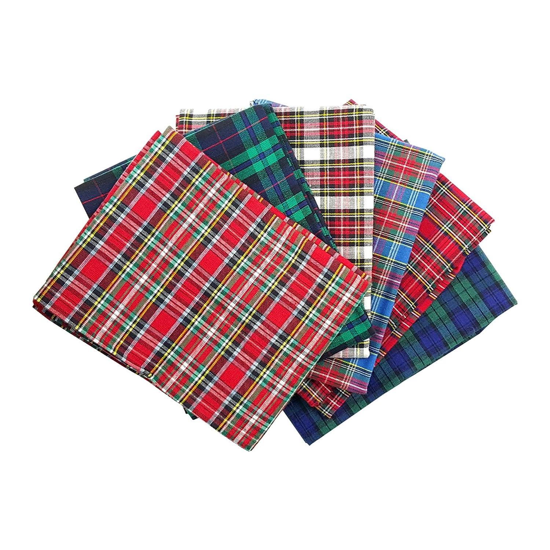 Craft Cotton tessuto pacchetto Tartan Tessuto, Cotone, 45x 55x 0,5cm, 5unità Craft Cotton (CRB9A) 2189-07