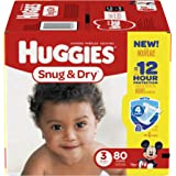 HUGGIES Snug & Dry Diapers, Size 3, 80 Count (Packaging May Vary)