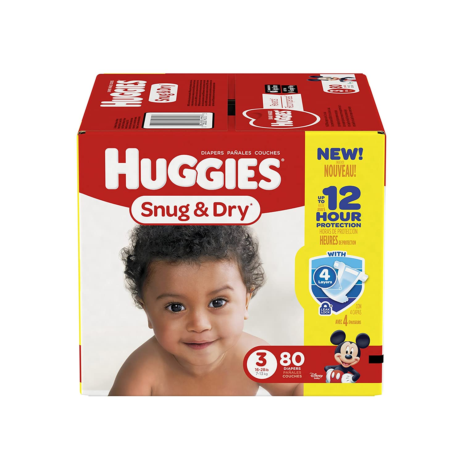 Amazon.com: HUGGIES Snug & Dry Diapers, Size 3, 80 Count (Packaging May Vary): Health & Personal Care
