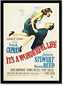 It's a Wonderful Life Artwork by Vintage Apple Collection, 16 by 24-Inch Canvas Wall Art