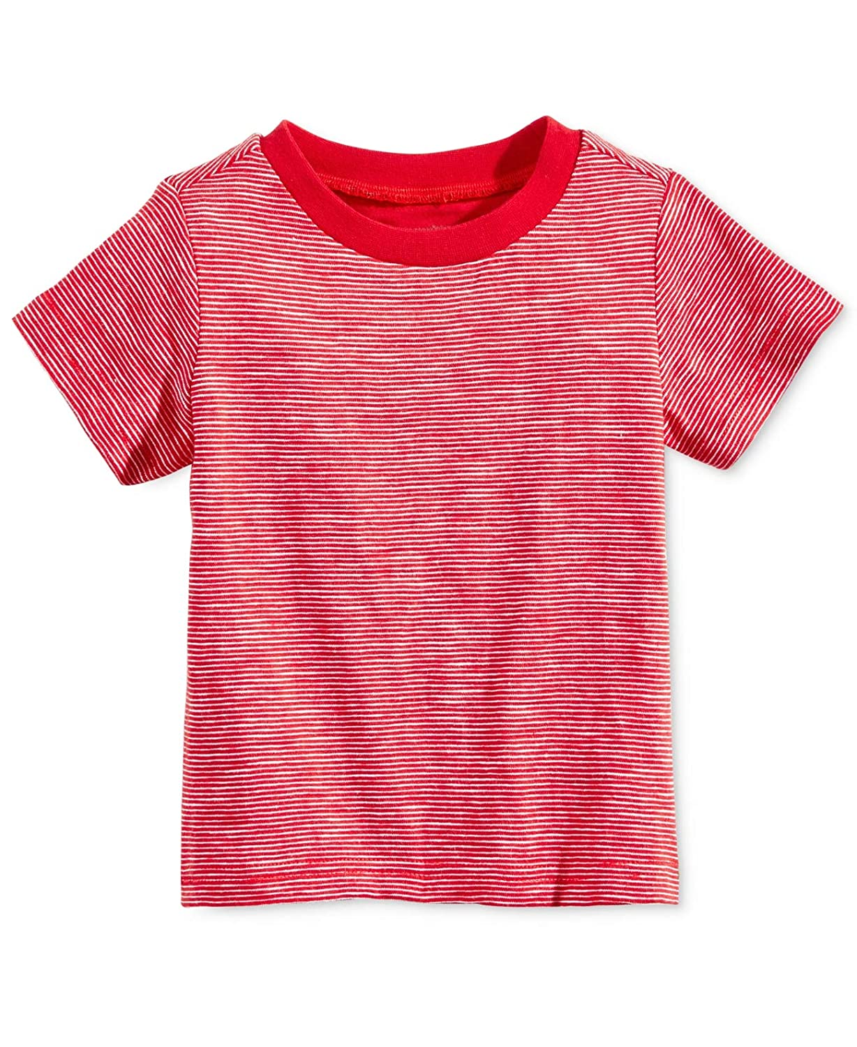 Baby Boys Red, 18 Months First Impressions Cotton Striped T-Shirt