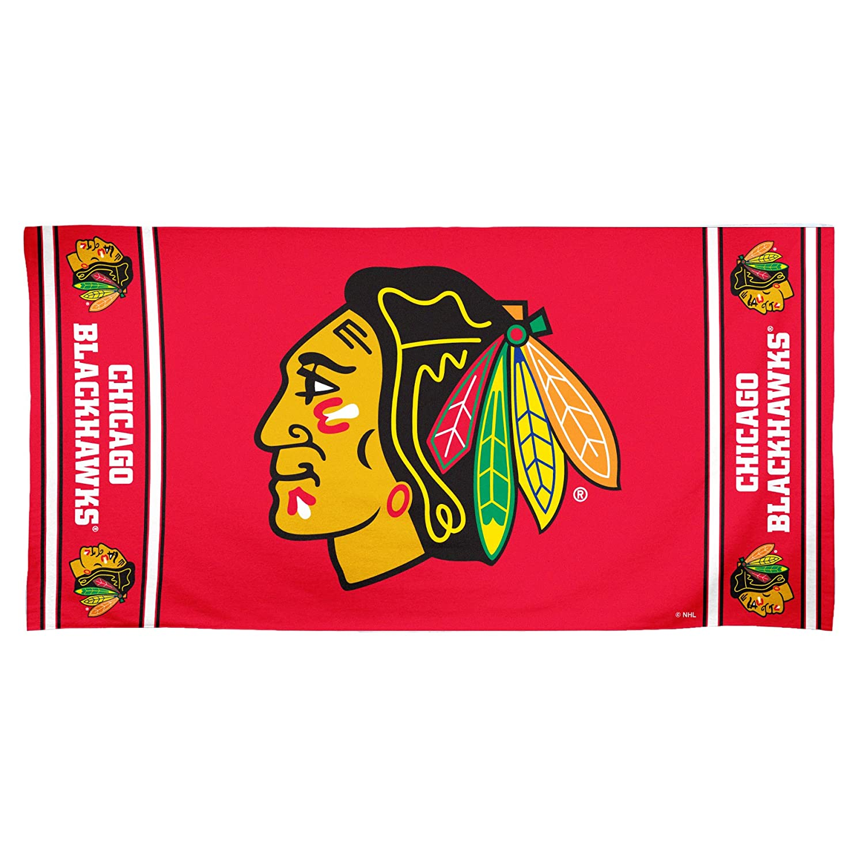 NHL Chicago Blackhawks 30 by 60 Fiber Reactiveビーチタオル B009EAURPA