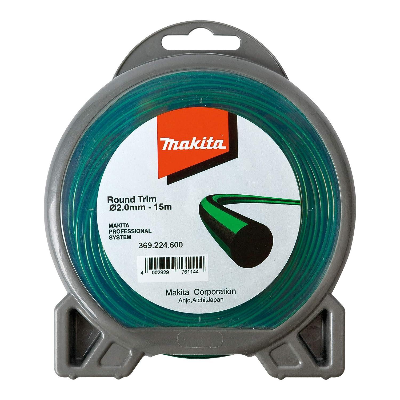 Makita - Cuerda de nylon de 2 mm x 15 m para cortadora, color azul