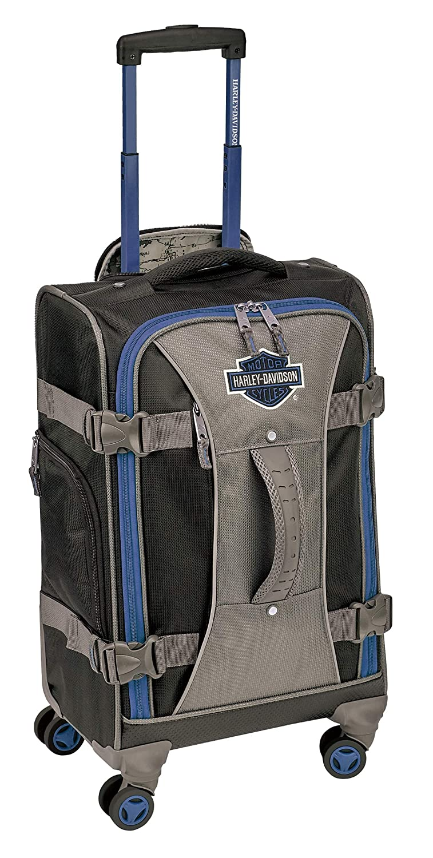 Harley-Davidson 機内持ち込み手荷物  ブルー/ブラック B07HGCV545