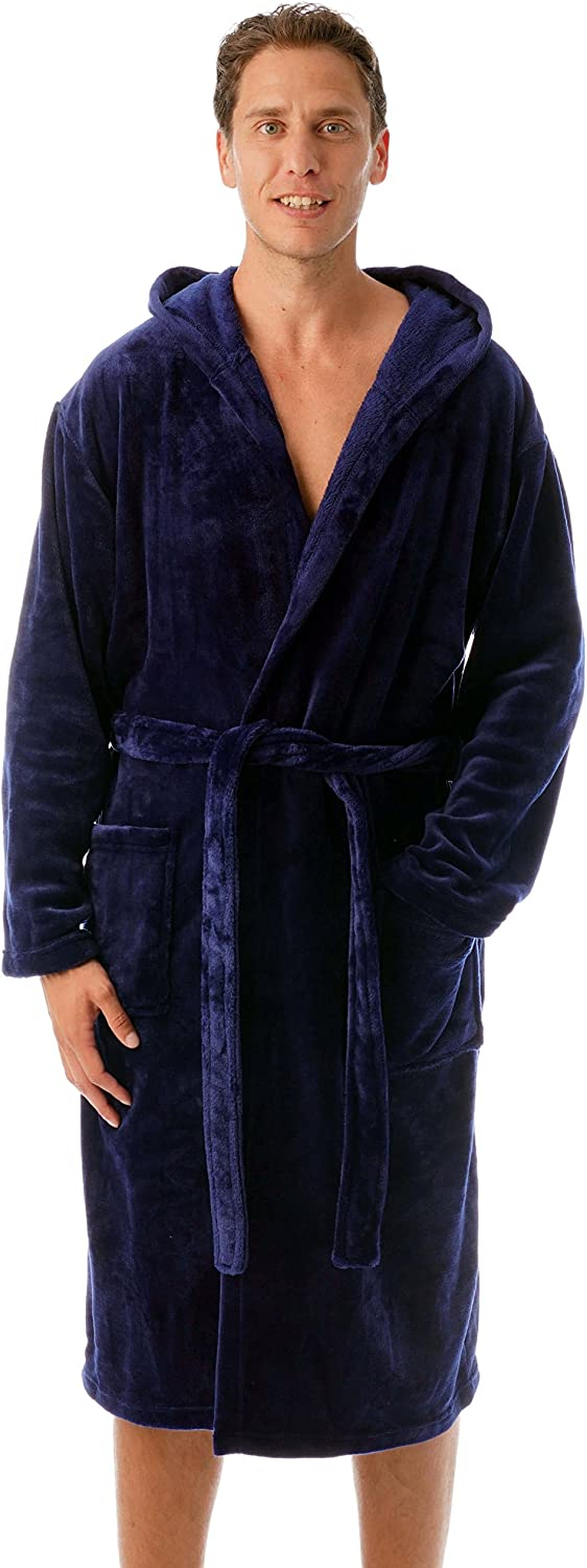 #followme Ultra Soft Velour Robe for Men with Hood