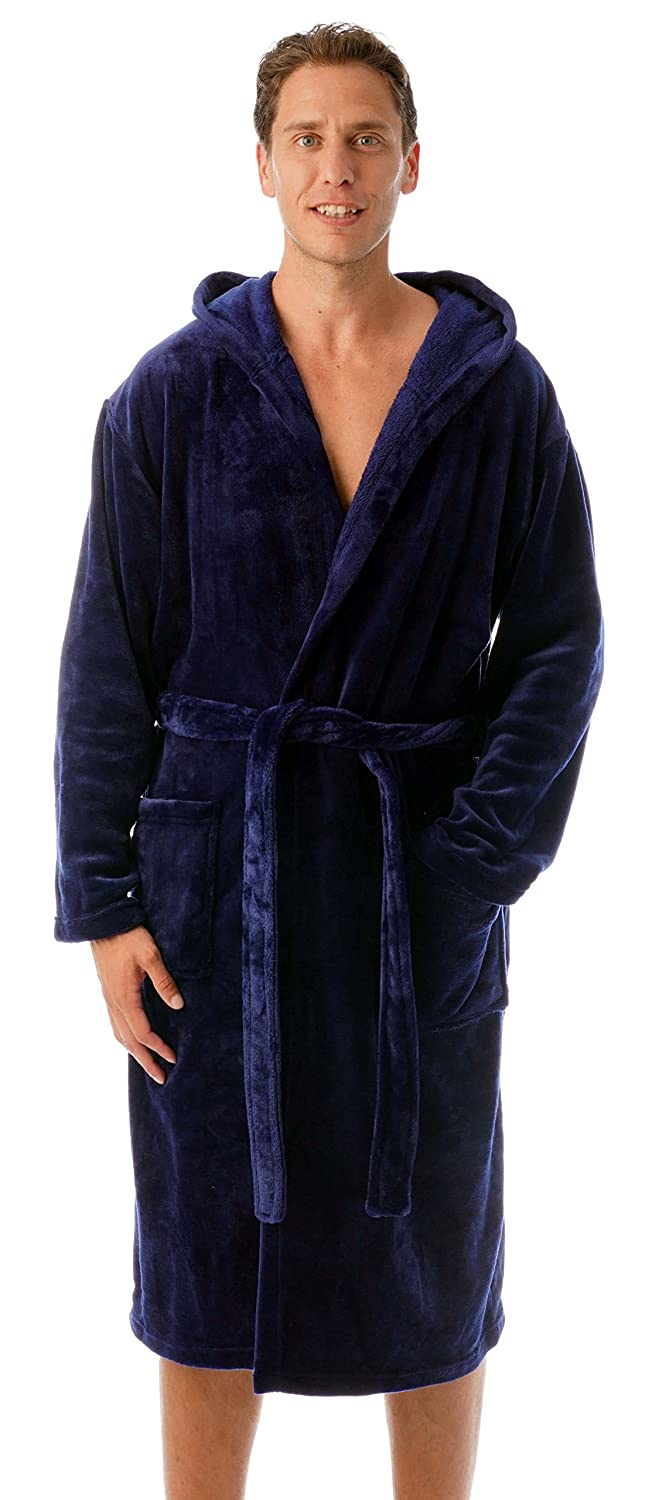 #followme Ultra Soft Velour Robe Men Hood
