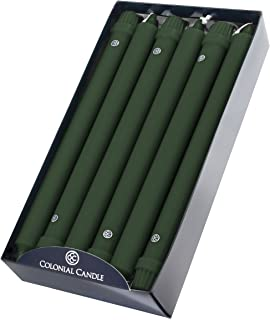 product image for Colonial Candle Classic Taper Candle, 12 in, Evergreen