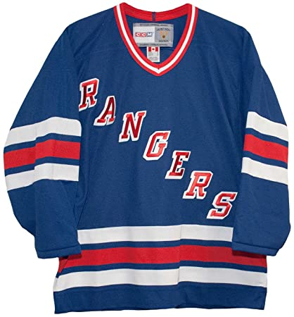 newest f1094 8712c Vintage New York Rangers 1996-1997 Blue CCM Jersey