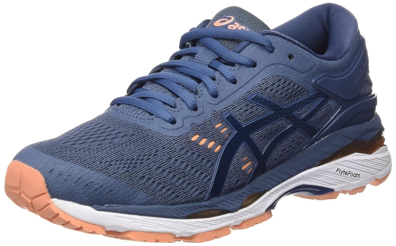 Asics Gel-Kayano 24, Zapatillas de Entrenamiento para Mujer 42.5 EU|Azul (Smoke Blue / Dark Blue / Canteloupe 5649)