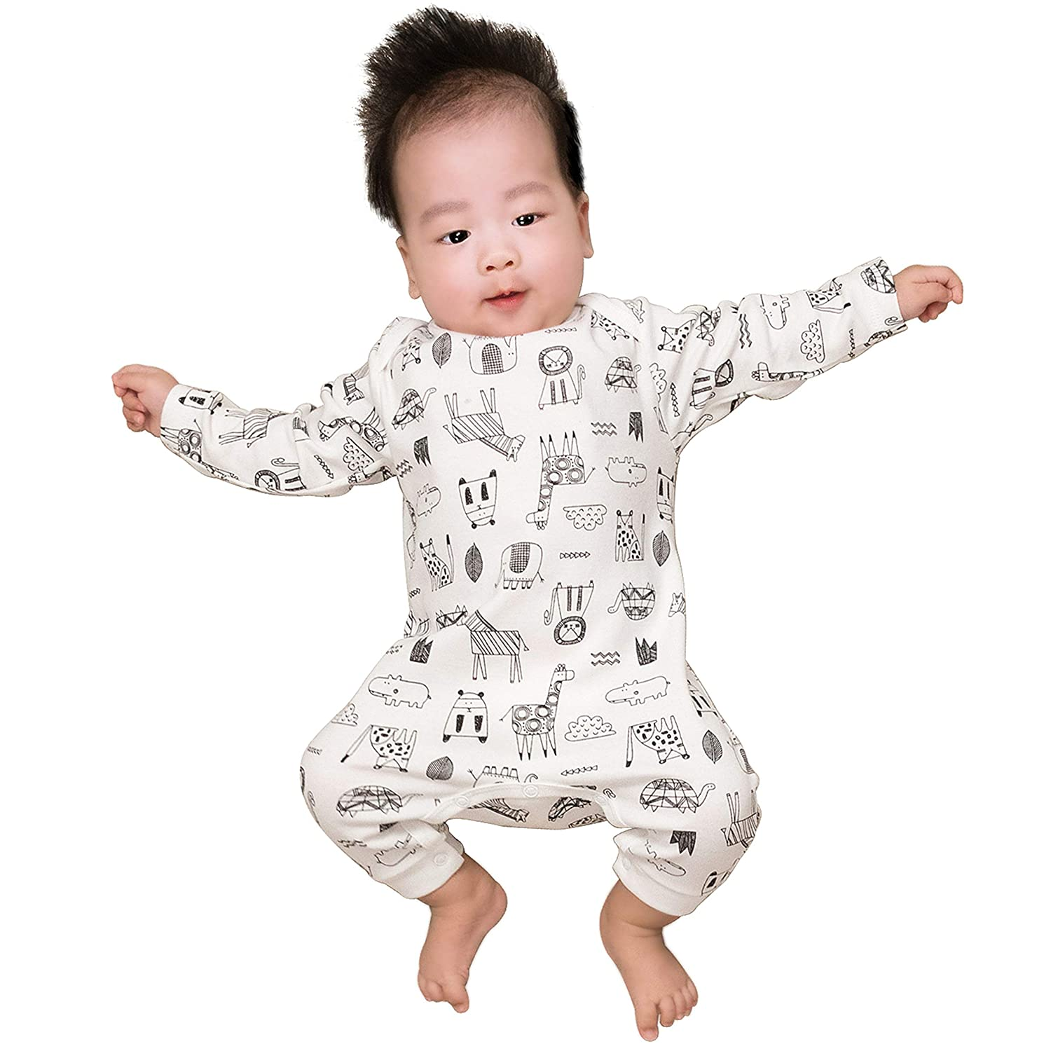 Unisex Baby Long Sleeve Bodysuit Cotton Infant Onesies for 0-12 Months