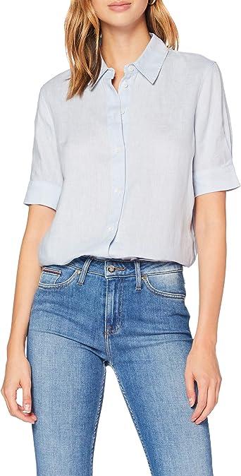 Tommy Hilfiger Essential C Camisa con Mangas con Dos Botones para Mujer: Amazon.es: Ropa y accesorios