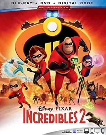 amazon com incredibles 2 blu ray craig t nelson holly hunter
