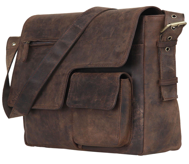 Leaderachi Hunter Leather Messenger Bag [Brescia-Muskat] product image