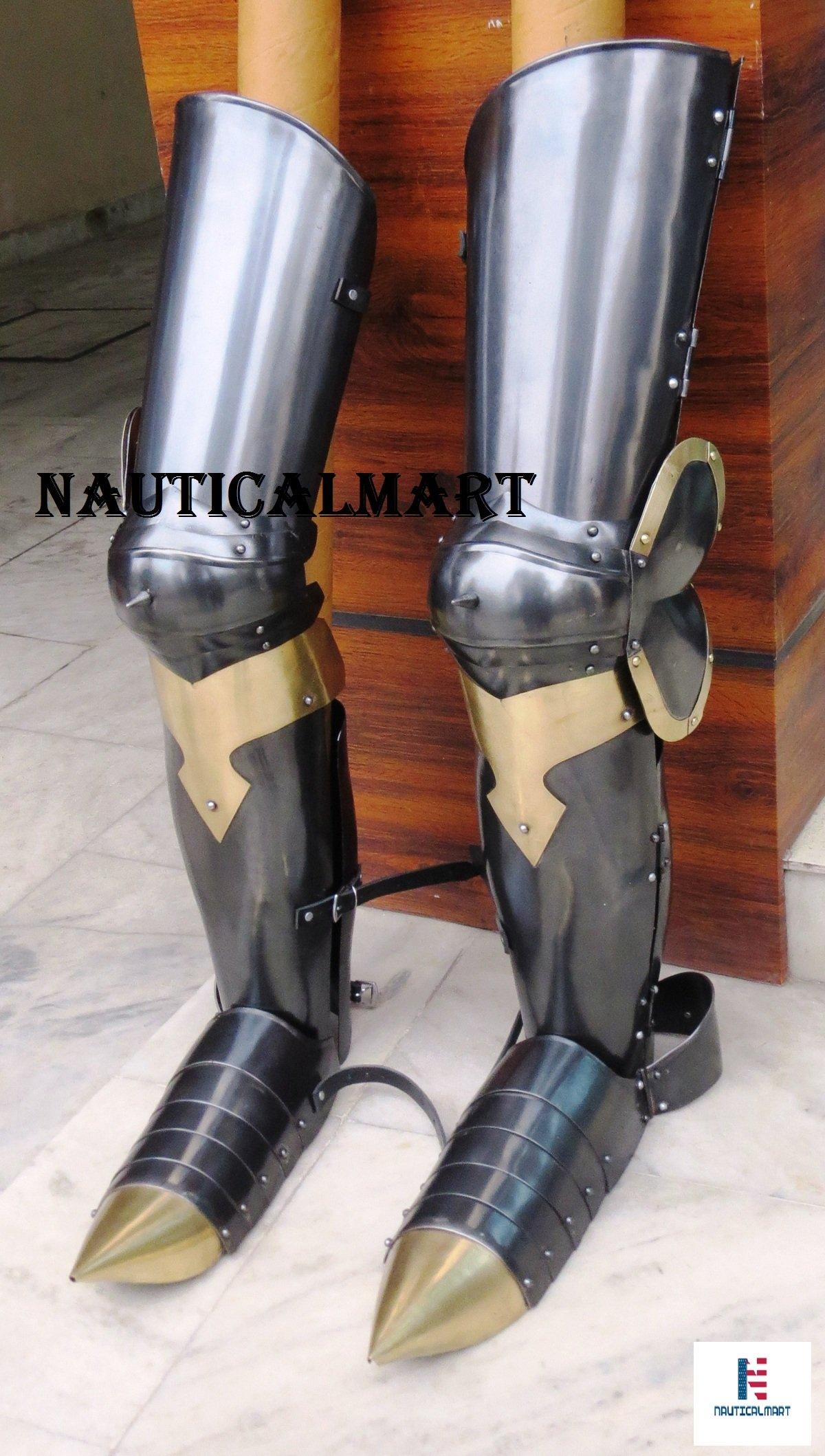 Functional Full Leg Armour, SCA Leg Armour, Steel Leg Armour