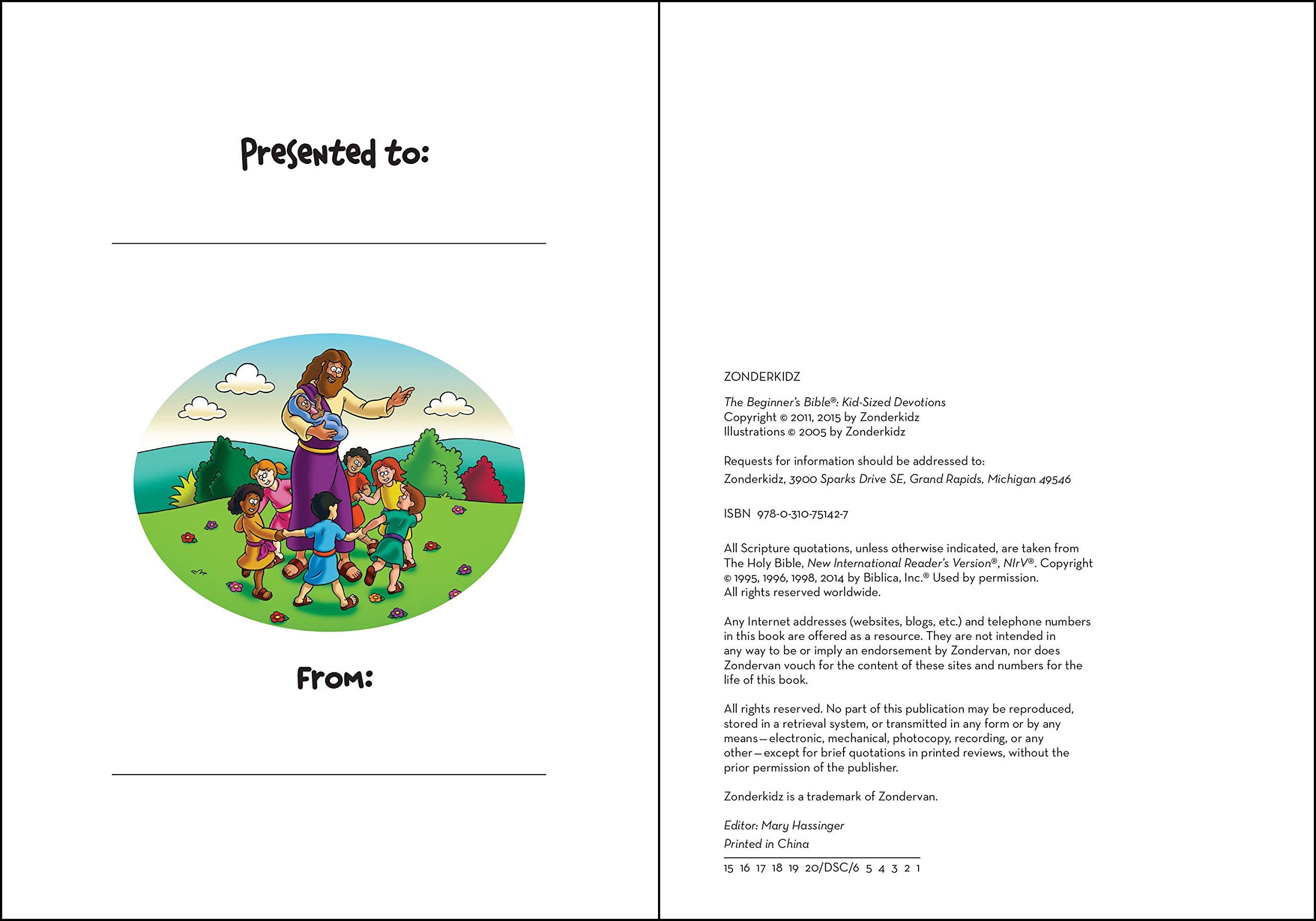 The Beginner's Bible Kid-Sized Devotions: Zondervan: 0025986751425:  Amazon.com: Books