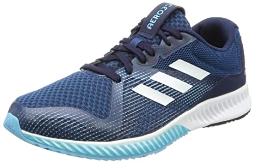 d12029b2e622 Adidas Men s Aerobounce Racer M Blunit Ftwwht Vapblu Running Shoes - 10 UK