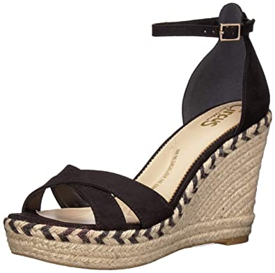 431e106e242 Circus by Sam Edelman Women s Renee Espadrille Wedge Sandal Black  Microsuede 5 ...
