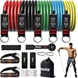 Walito Resistance Bands Set, Workout Bands Including 5 Stackable Exercise Bands with Door Anchor, Ankle Straps, Carrying…