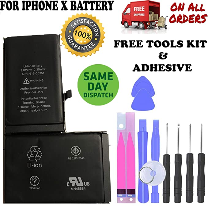 new product b22e8 30988 Replacement Battery Compatible for IP X with Free Repair Tools Kit and  Adhesive