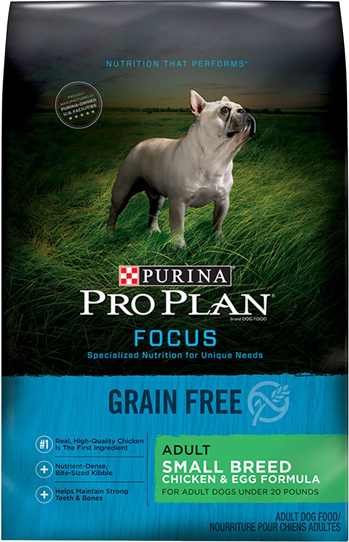 Purina Pro Plan Grain Free Small Breed Dry Dog Food, FOCUS Chicken & Egg Formula - 16 lb. Bag