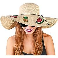 Foxy Grey Sombreros de Playa para Mujer, Sombreros de Sol para Mujer, Sombrero de Playa para Mujer