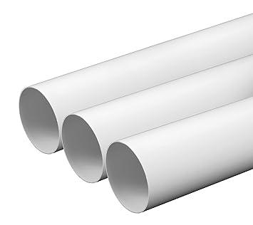 Berühmt Lüftungsrohr Ø 100 mm Länge 0,5 m aus ABS-Kunststoff Rundrohr PG24