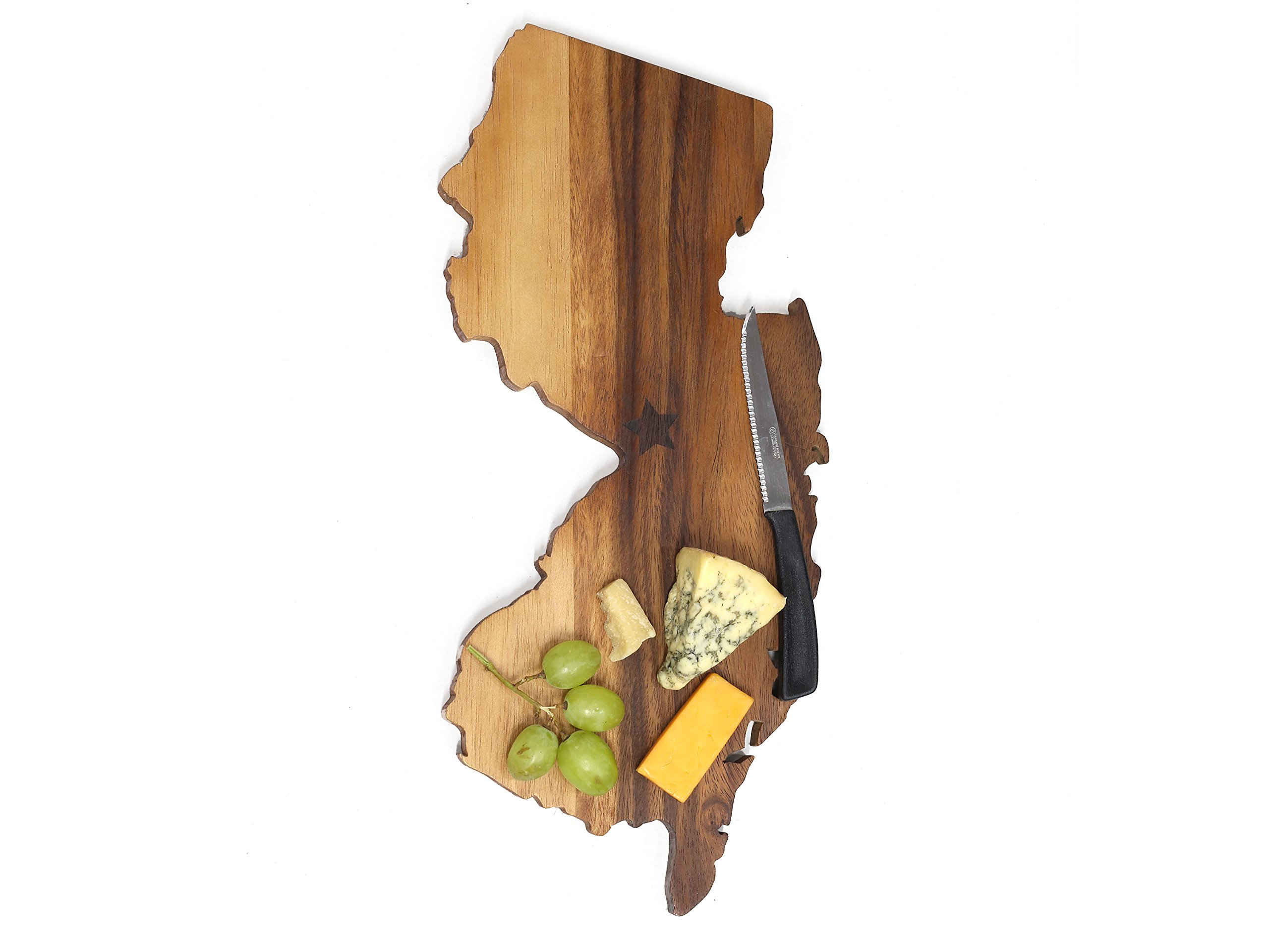 New Jersey Cutting Board: Premium-grade Custom Wooden Chopping or Cheese Board from SiamMandalay