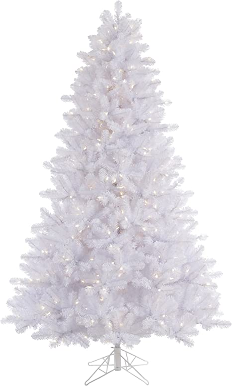 Vickerman 65 Crystal White Pine Artificial Christmas Tree With 550 Warm White Led Lights Home Kitchen