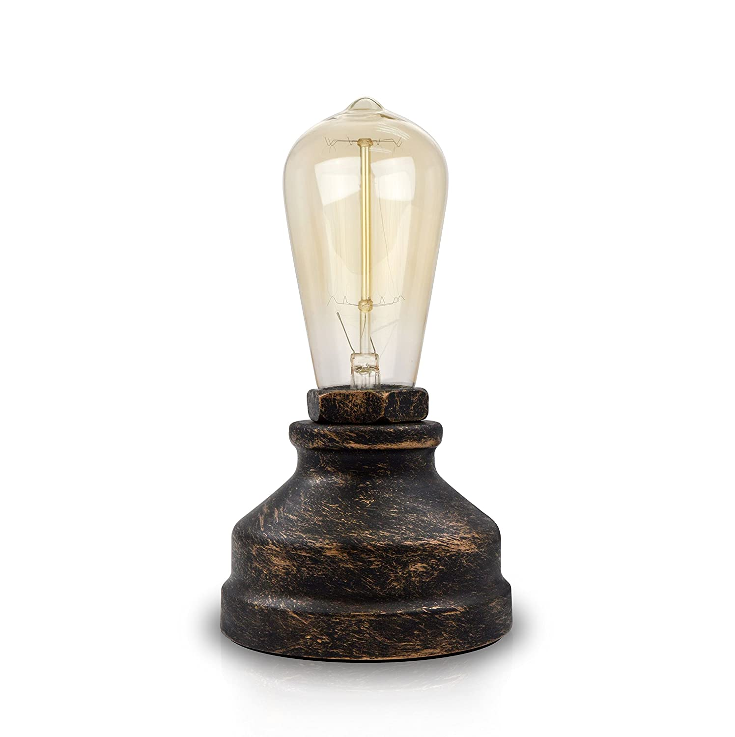 Vintage Industria Table Lamp Base For E26 Edison Bulb With Touch Dimmable  Antique Night Light Desk Lamps Bedside Living Room Bedroom Decoration For  Loft ...