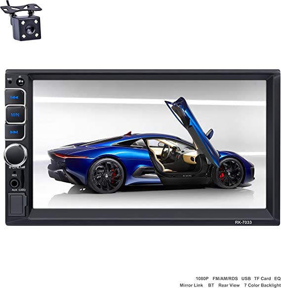 Reakosound Radio Coche 2 DIN Reproductor MP5 autoradio Audio 1080p ...