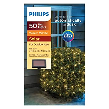Philips 50ct Christmas Solar Net Lights Warm White GW - Amazon.com : Philips 50ct Christmas Solar Net Lights Warm White GW