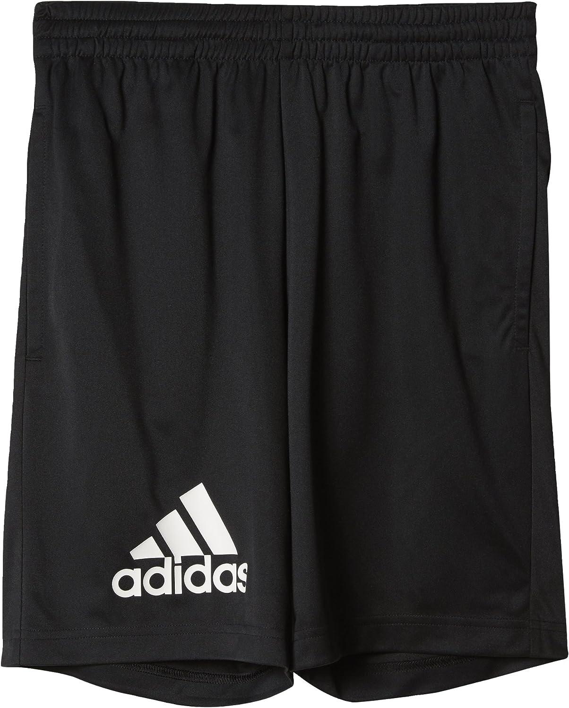 Nero BK0744 Ragazzo Black//White adidas Gear Up Knit Shorts 152