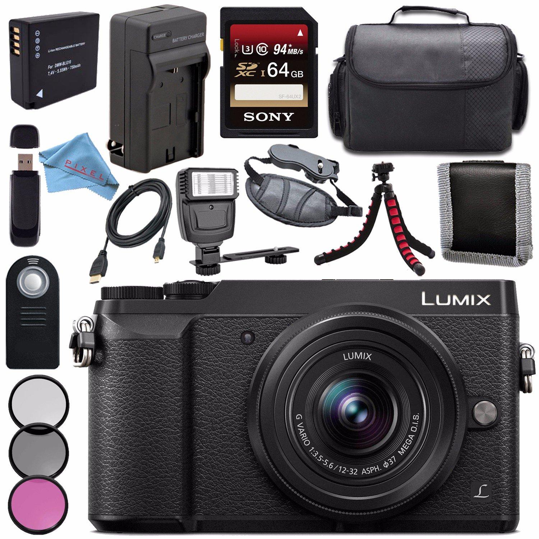 Panasonic Lumix Dmc Gx85 Dmcgx85 Digital Camera With 12 32mm Lens Gx85k Lensa Kamera 37mm 3 Piece Filter Kit Dmw Blg10 Lithium Ion Battery External Rapid Charger Sony