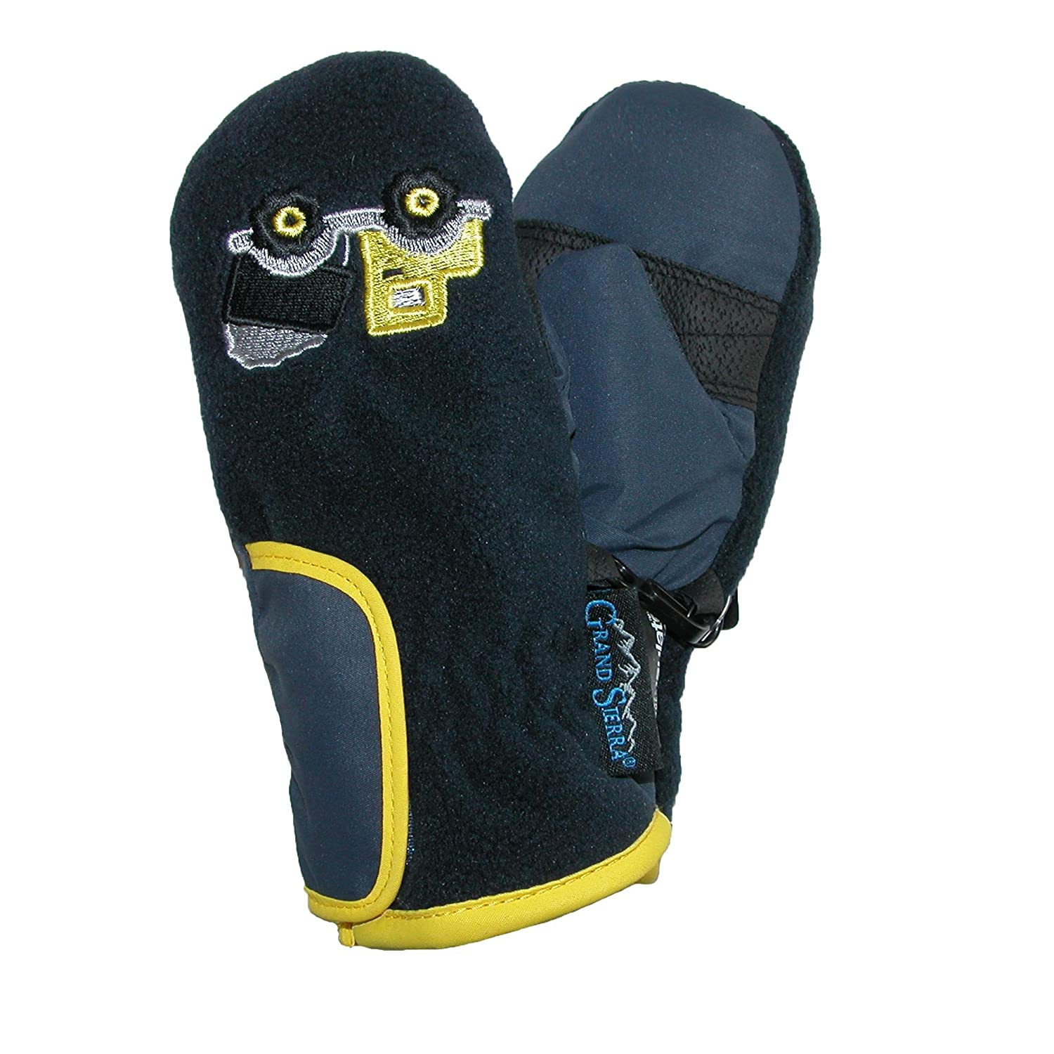 Grand Sierra Toddlers 2-4 Embroidered Waterproof Mittens Black with Motorcycles