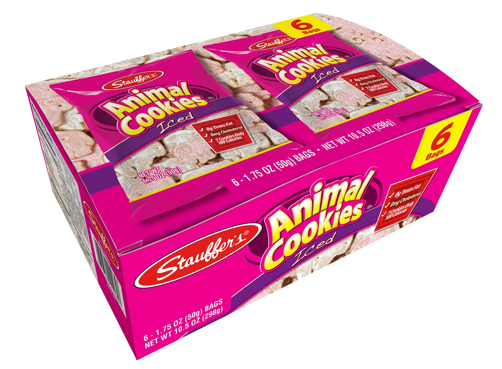 Stauffer's 12 Snack Pack Set Iced Animal Cookies, 1.75 Oz. Each