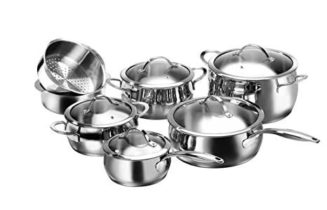 Karcher Lara Batería de cocina, 7 piezas, acero inoxidable ...