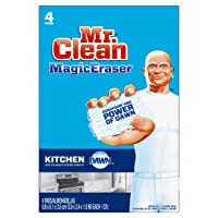 Deals on 4-Pack Mr. Clean Magic Eraser Kitchen, Cleaning Pads