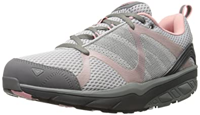 a0a2a58f2bf8 MBT Women s LEASHA Trail LACE UP Walking Shoe Baby Pink Rose 36 EU 5