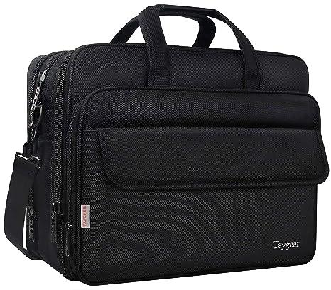 7d585dbe25 Taygeer Borsa da 17 pollici per laptop, borsa Messenger espandibile per  computer, borsa da