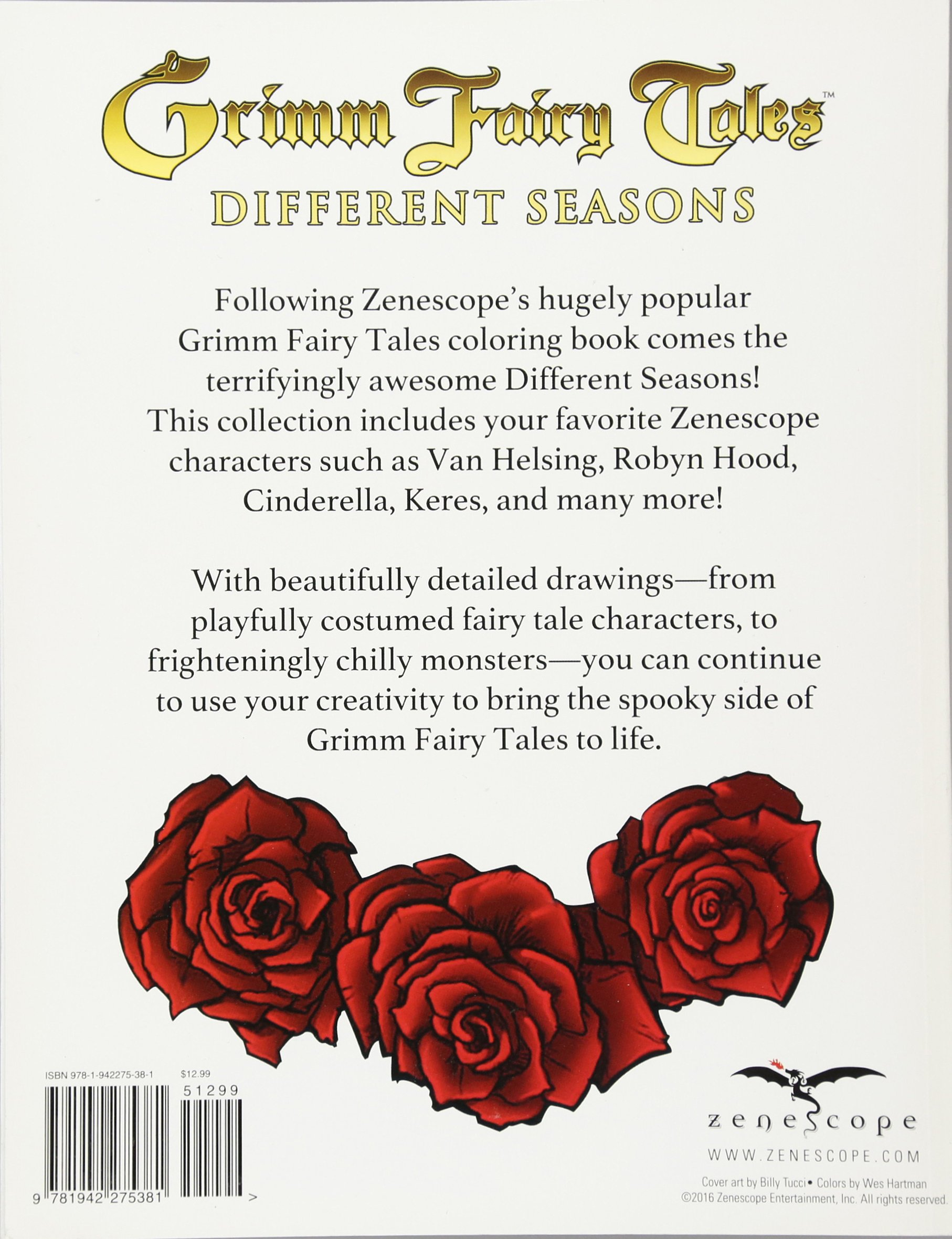 Amazon.com: Grimm Fairy Tales Adult Coloring Book Different Seasons ...