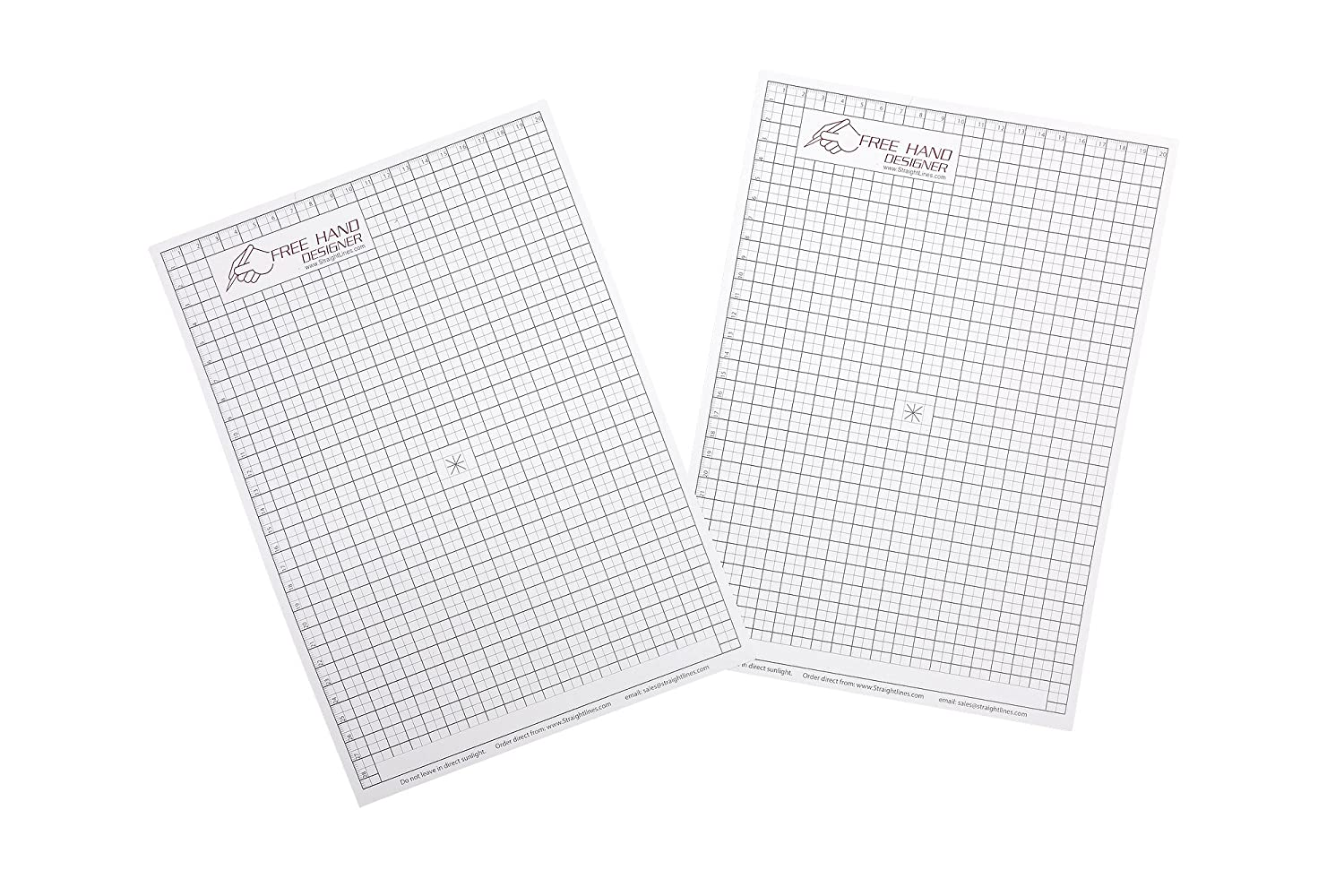Designer Lines : 2 x a4 grid type 'freehand designer' sheets. draw perfect straight