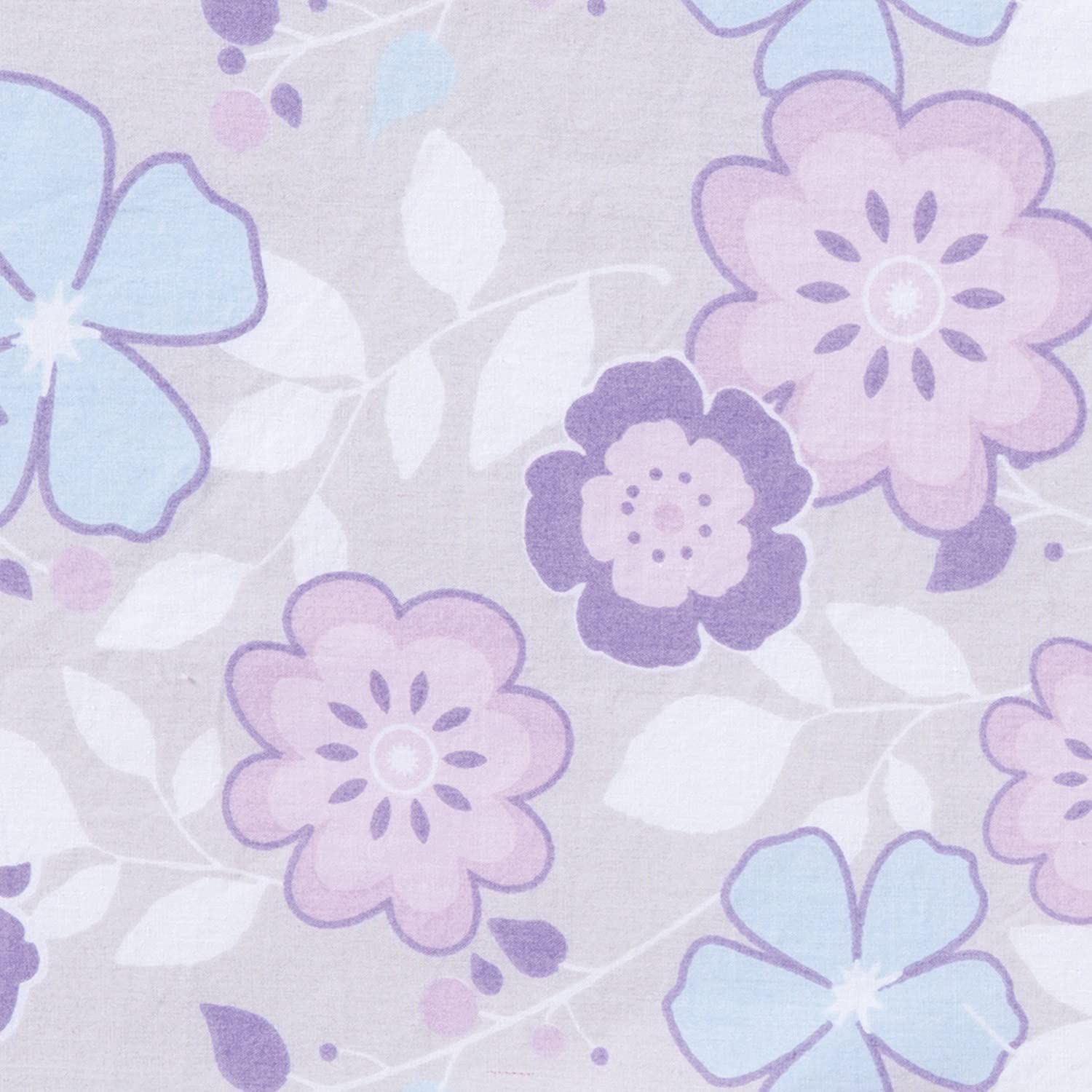 Trend Lab Grace Floral Changing Pad Cover Blue Gray and White Purple