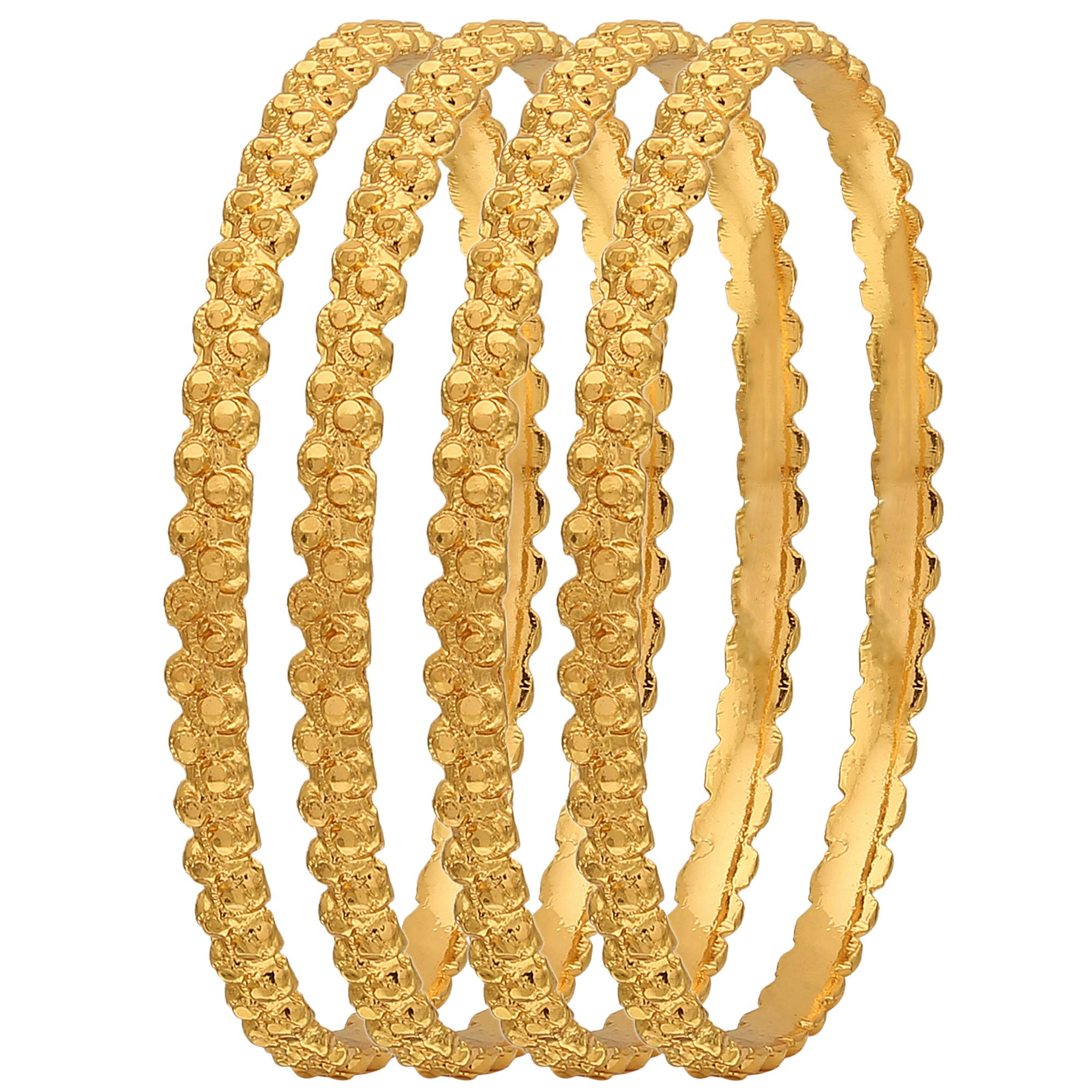Sasitrends 1 Gram Gold Plated Thick Size Daily Wearable Bangles for Women - Set of 4 (B07GCQNCMK) Amazon Price History, Amazon Price Tracker